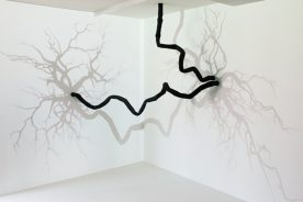 Pascal Haudressy, Suspended, 2012, Mixed technique, resin and video projection, 250 x 250 cm, numeric loop