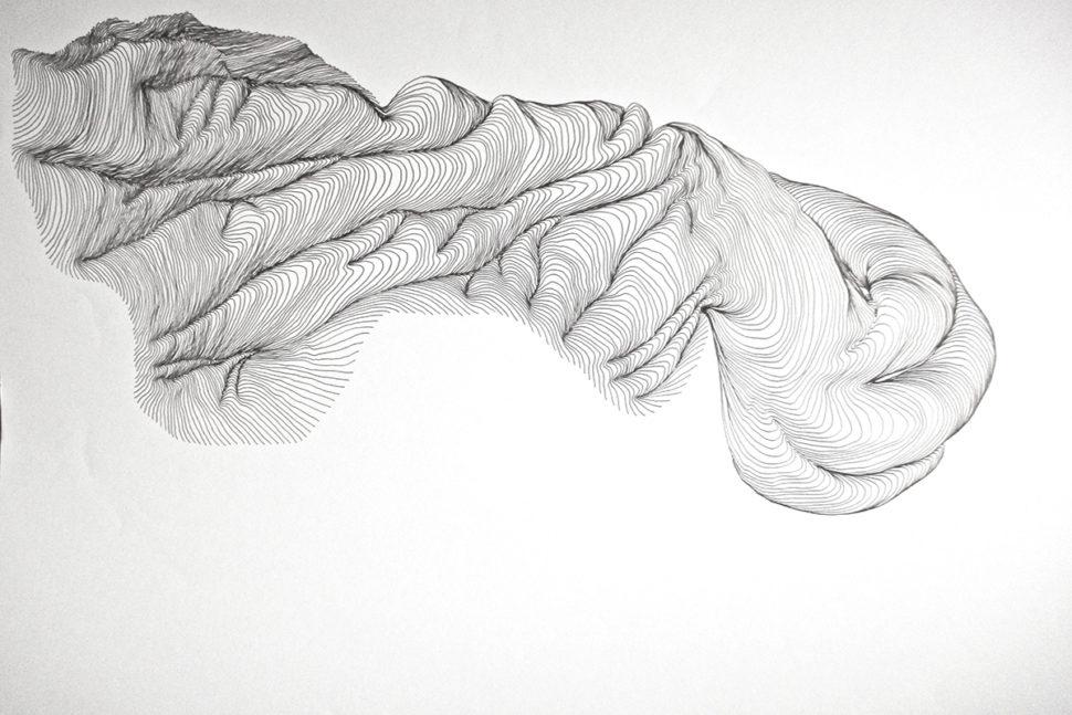 Tatiana Wolska, Untitled, 2009, Ink on paper, 65 x 50 cm