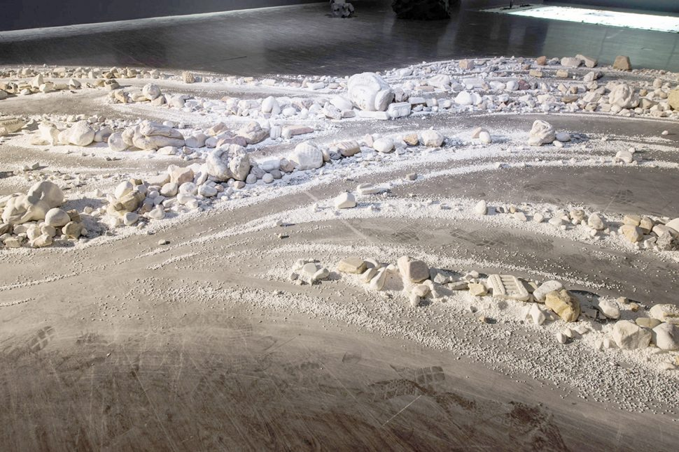 Shi Jinsong, View of 30 years old river, 2015, Marble, Variable dimensions