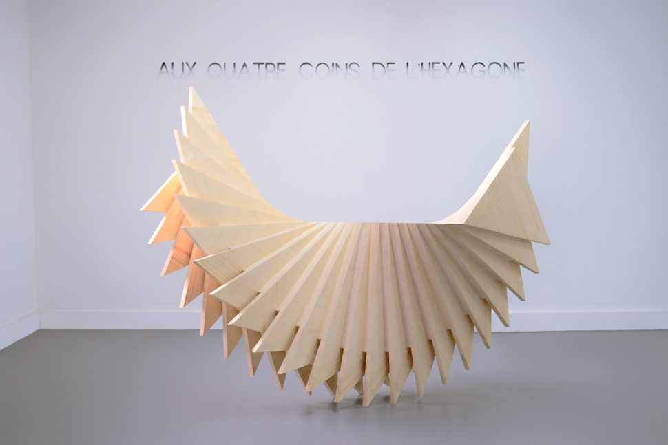 Boris Lafargue, Heraphrodite, 2013, Wood, 160 x 140 x 92 cm