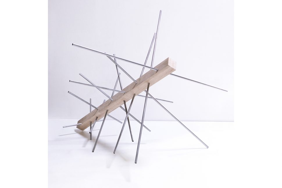 Boris Lafargue, Untitled, 2015, Wood and cooper, 112 x 100 x 45 cm