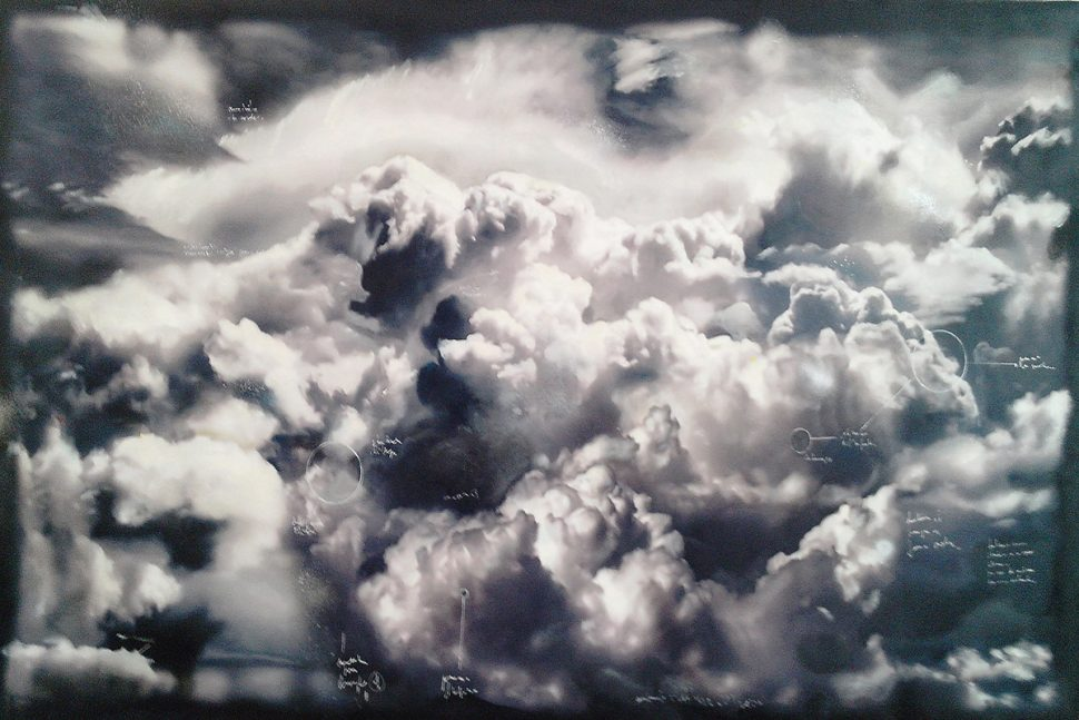 Donato Piccolo, Studio about a cloud, 2014, Oil on canvas, 225 x 135 cm
