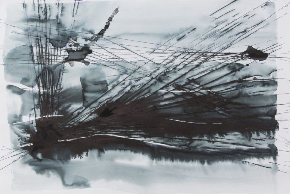 Tatiana Wolska, Untitled, 2016, Mixed media, 100 cm x 17 cm