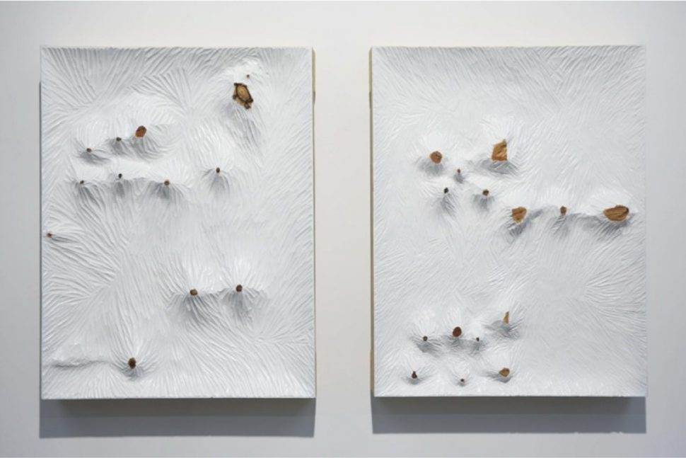 Yang Xinguang, Untitled (White board 1/2), 2013, Wood and acrylic, 60 x 47 x 8 cm