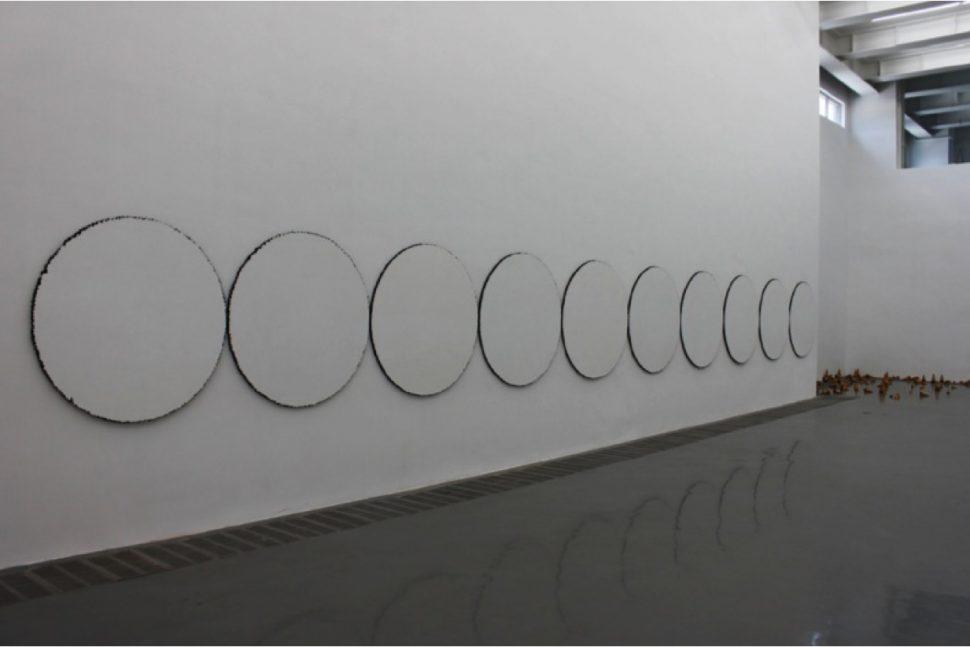 Yang Xinguang, Circle, 2012, Wood, 120 x 120 cm (x10)
