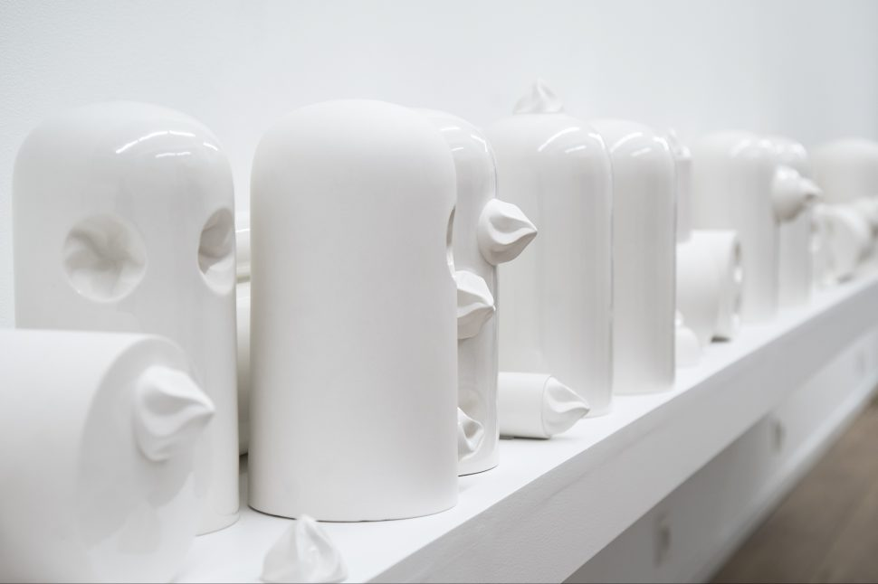 Jessica Lajard, Eye Candy, 2016, Limoges porcelain, Exhibition view of