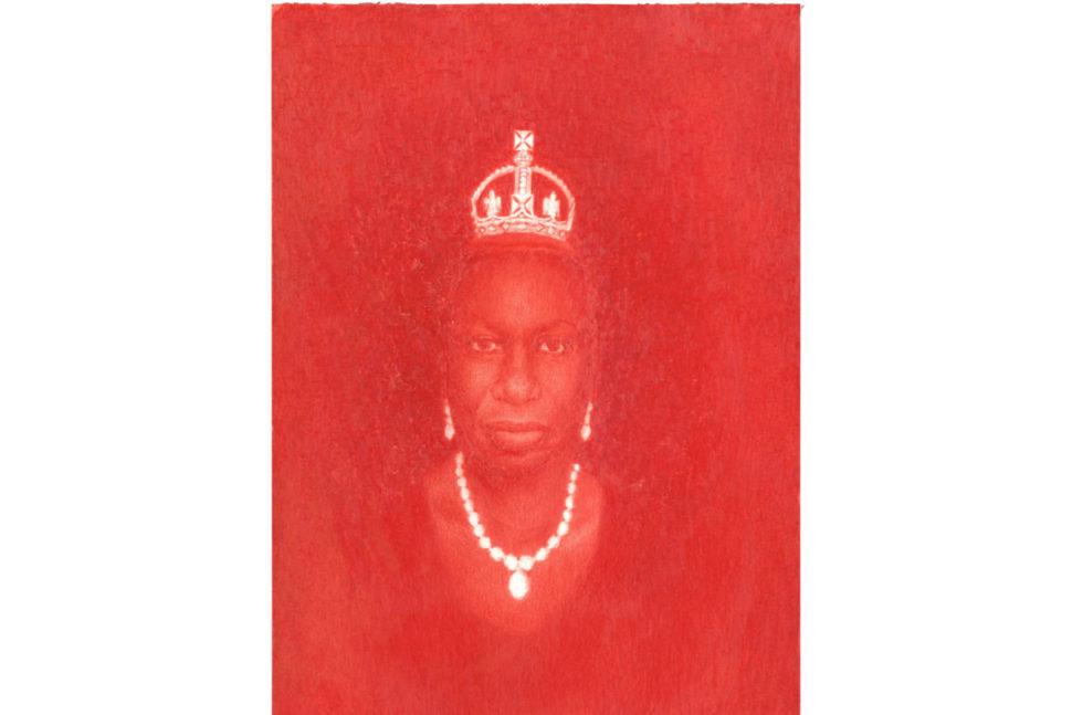 Pedro A.H. Paixão, Little Diamond Crown (Nina Simone in memoriam), 2015, Colored pencil on paper, 20,9 x 14,8 cm, Manuel de Brito Collection