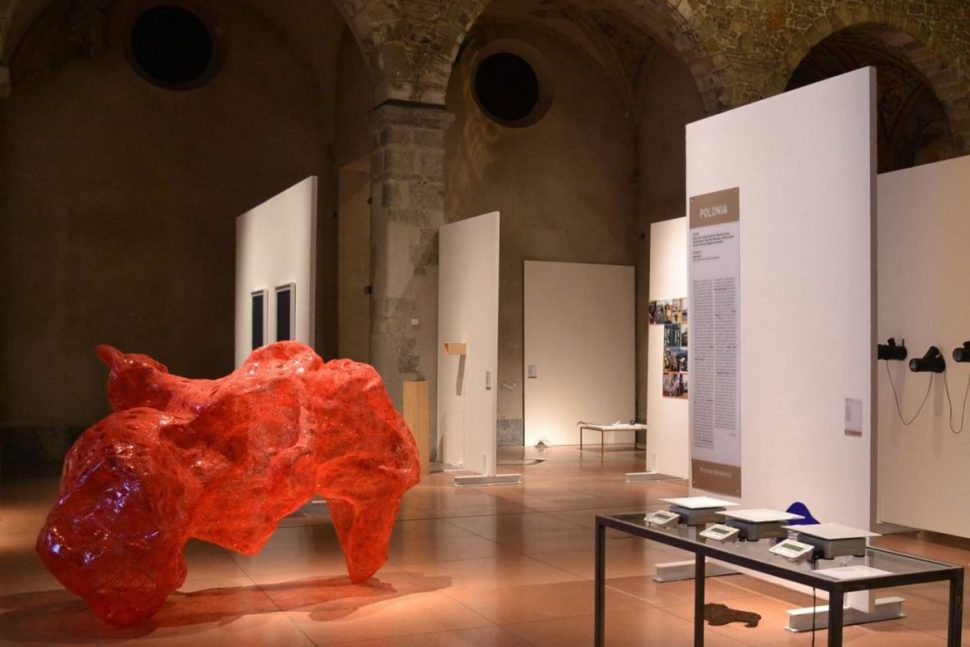 Tatiana Wolska, Untitled, Thermo welded plastic. Exhibition view of JCE, Contemporary Art Biennale, Spazio Ratti, Como (IT), 2017