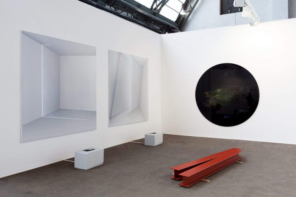 Pascal Haudressy, Jonathan Sullam and Roeland Tweelinkx, Exhibition view of Irène Laub Gallery's Booth at Art Brussels 2017