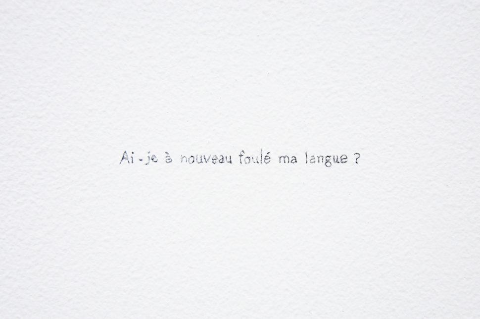 Gudny Rosa Ingimarsdottir, Ai-je, 2000, pencil writing, variable dimensions, 4/10