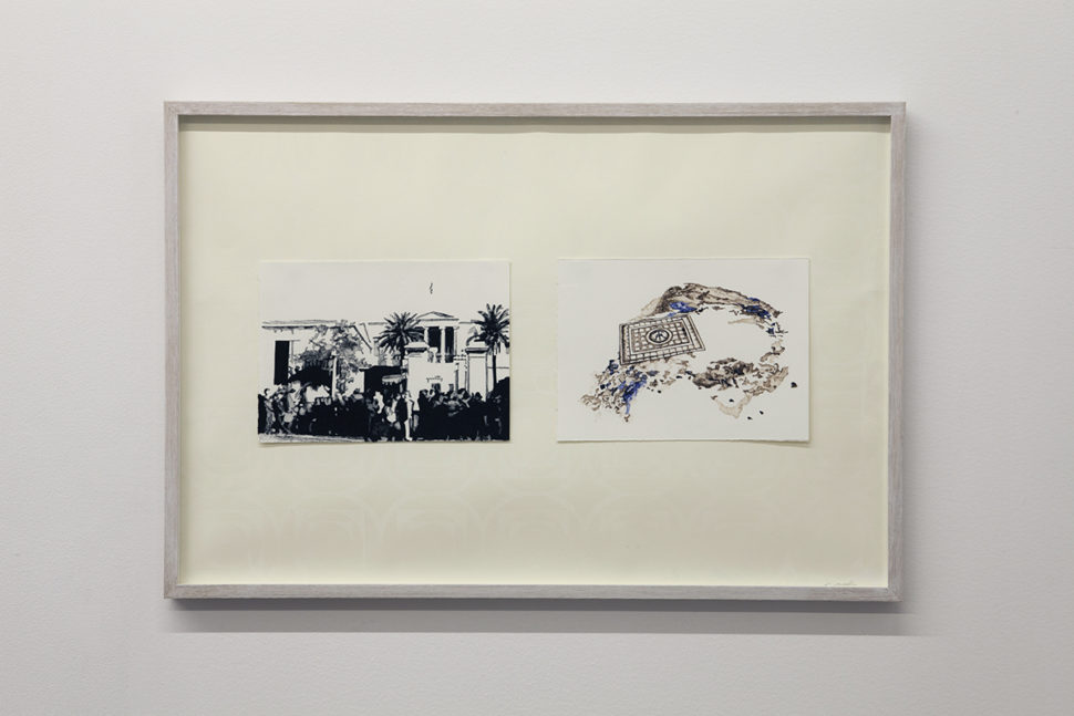 Eirene Efstathiou, Exhibition view of Irène Laub Gallery's booth at Art on Paper, Brussels, 2017