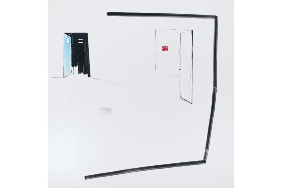 Panos Papadopoulos, 2 rooms, 2016, Oil on canvas, 150 x 150 cm