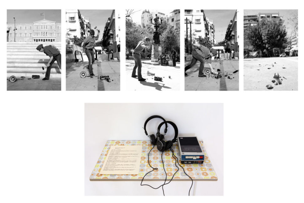 Eirene Efstathiou, When the revolution comes, 2014, Documentation of the performance, sound and diaporama, variable dimensions