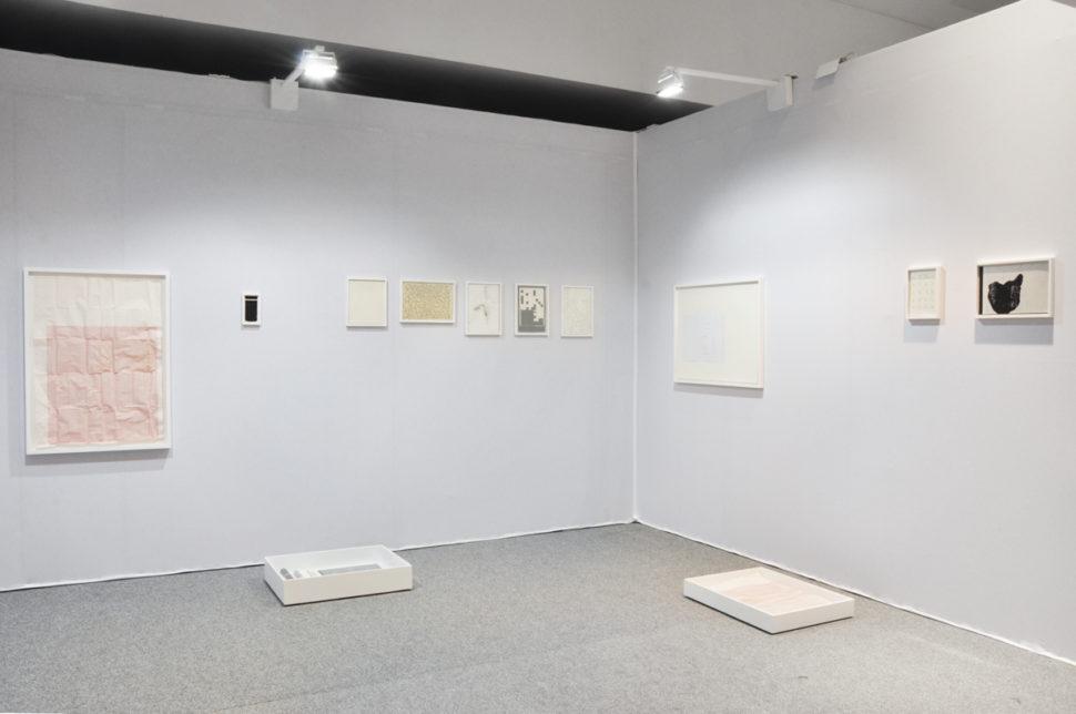 Gudny Rosa Ingimarsdottir, exhibition view of Drawing Now Paris, 2018