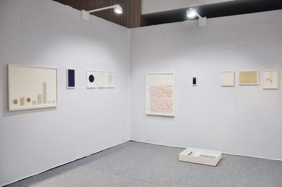 Gudny Rosa Ingimarsdottir, exhibition view of Drawing Now Paris, 2018