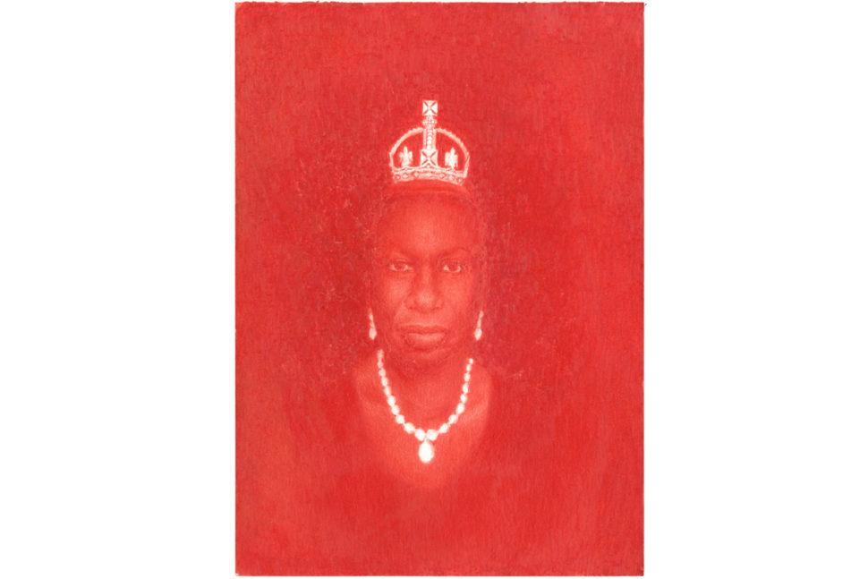 Pedro A. H. Paixao, Little Diamond Crown (Nina Simone in memoriam), 2015, Colored pencil on paper, 20,9 x 14,8 cm