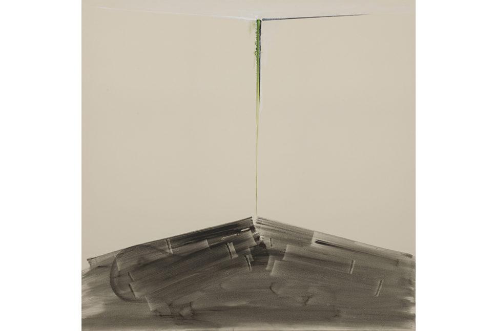 Panos Papadopoulos, Corner and floorboards, 2018, Oil on canvas, 150 x 150 cm