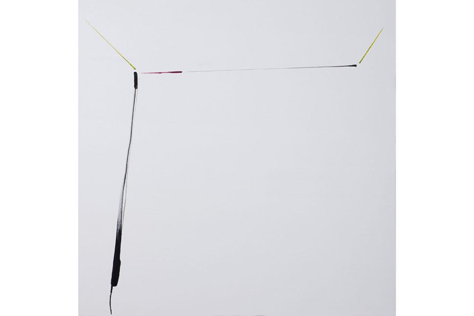 Panos Papadopoulos, Window, 2017, Oil on canvas, 130 x 130 cm