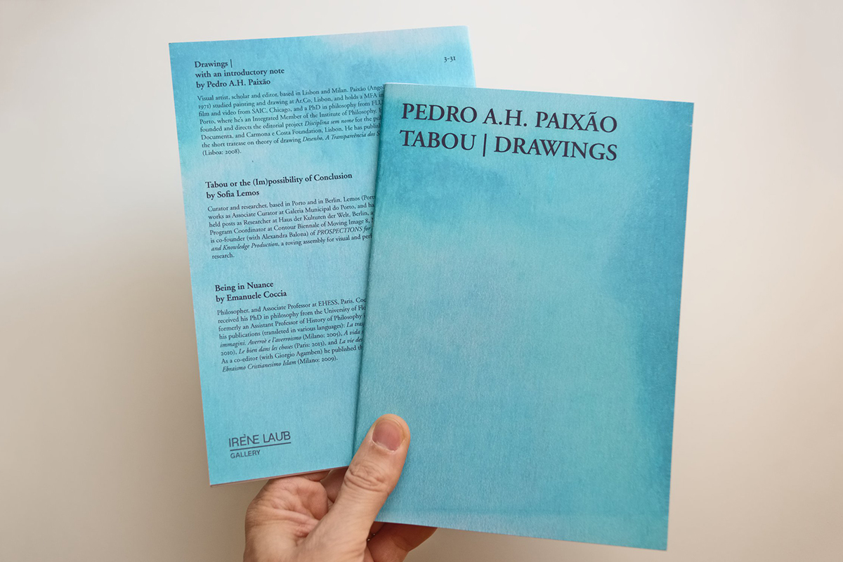 Pedro A.H. Paixão, Tabou | Drawings, 2018
