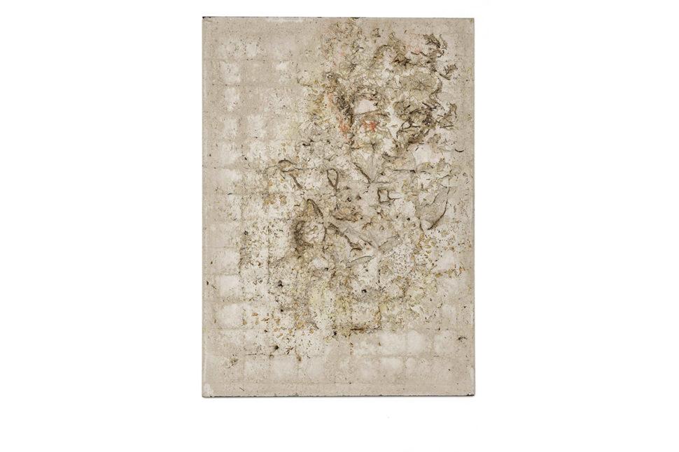 Alessandro Piangiamore, Ieri Ikebana 031020161, 2016, Concrete, ora, metal, 141 x 101 x 2,5 cm
