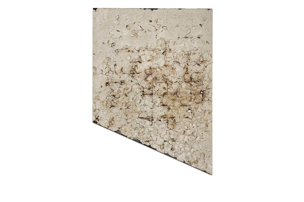 Alessandro Piangiamore, Ieri Ikebana 30092016, 2016, Concrete, ora, metal, 141 x 101 x 2,5 cm