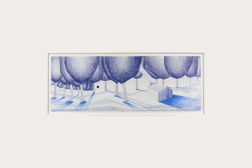 Charles Laib Bitton, Malcomportements dans la Prairie, 2012, Pen on paper.