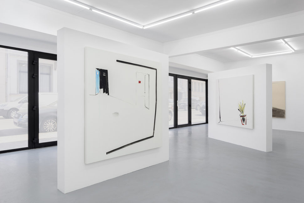Exhibition view of Painting Yourself into Corners at IrèneLaub Gallery (BE), 2018