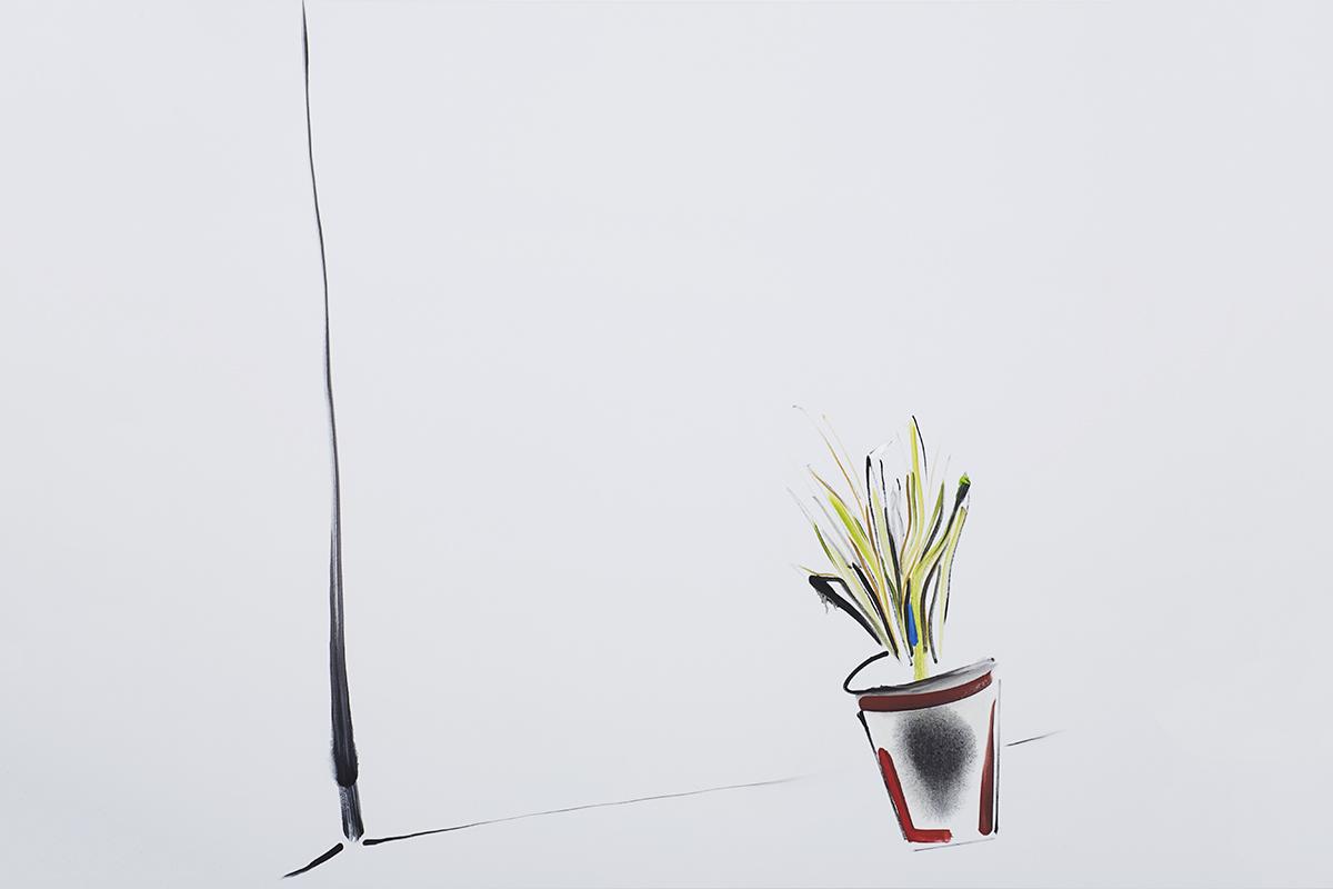 Panos Papadopoulos, Love corner, 2017, Oil on canvas, 130 x 130 cm