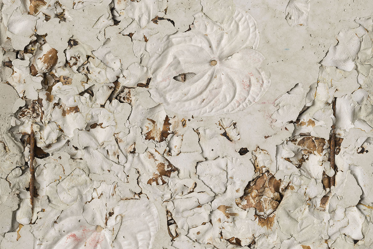 Alessandro Piangiamore, Ieri Ikebana 280420171, 2017, Concrete, flora, metal, 64 x 50 x 2,5 cm (detail)