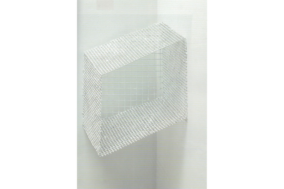 José Pedro Croft, Untitled, 2017, Rebar and plaster, 100 x 70 x 62 cm