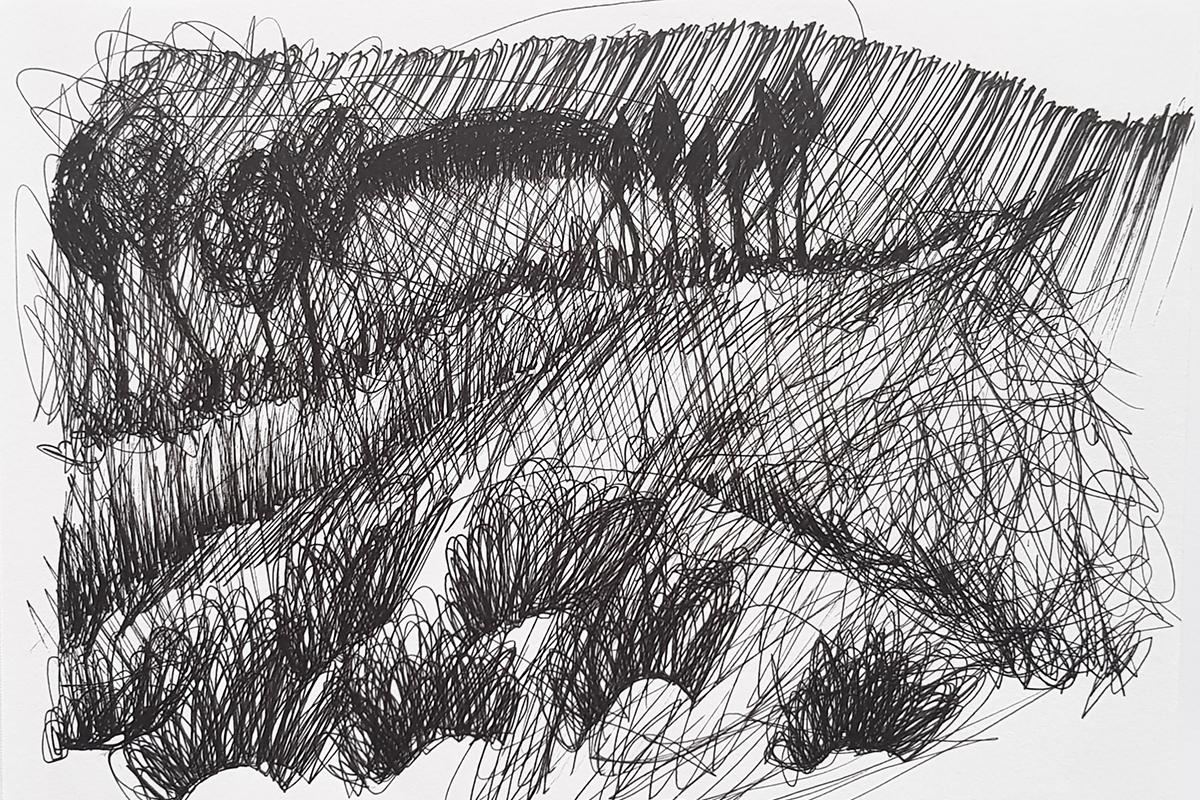 Tatiana Wolska, Untitled, 2018, Ink on paper, 19 x 15 cm