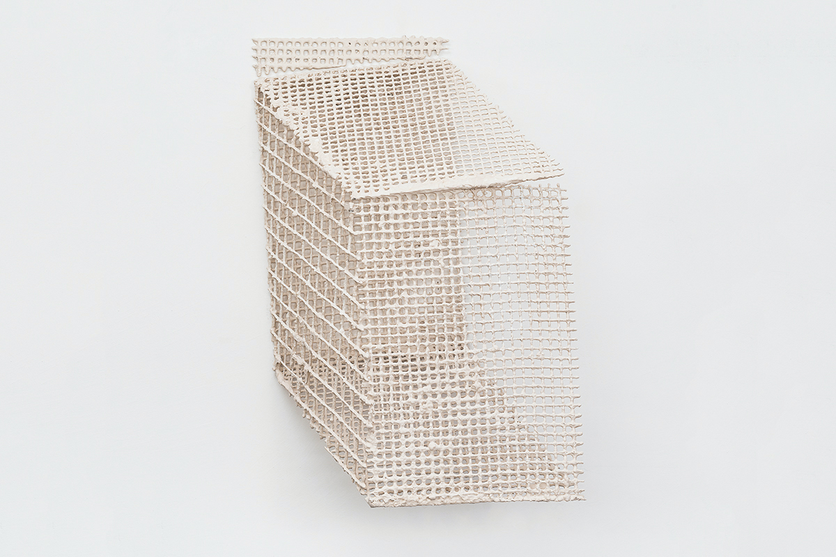 José Pedro Croft, Untitled, 2017, Rebar and plaster, 115 x 95 x 55 cm