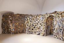 Tatiana Wolska, Installation view at FRAC Corse, 2016, Recycled wood