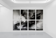 Jonathan Sullam, Not so distant, 2014, Silkscreen prints on photography, 106 x 75,5 cm (8 panels)