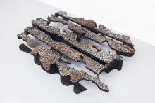 Tatiana Wolska, Untitled, 2017, Burned wood pallet, nails, 120 x 82 x 15 cm