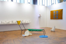 Exhibition view of Jessica Lajard's artworks at Art Rotterdam