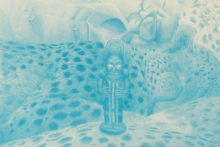 Pedro A.H. Paixão, The Dream of the Ancestor, 2017, Colored pencil on paper, 59,4 x 42 cm (detail)
