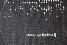 Gudny Rosa Ingimarsdottir, comme ça louise ?, 2017, vinyl record, plexiglass and mixed media on paper, 32 x 32 x 1,5 cm