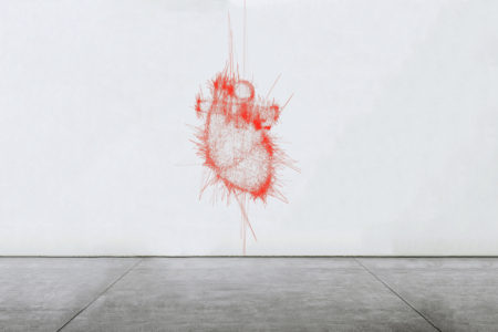 Pascal Haudressy, Heart, 2012n Numeric loop, variable dimensions (simulation in situ)