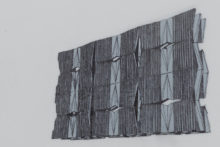 Nazgol Ansarinia, Untitled, Demolishing buildings, buying waste, 2018, Ink and marker on paper, 35.5 x 28 cm. Courtesy of the artist and Green Art Gallery. Photo_Seeing Things - Musthafa (detail)