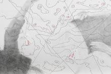 Lucile Bertrand, Méditérranée 2017, 2018, pencil, pen felt, ink and printed paper on Canson paper 200g, 42 x 59 cm (detail)