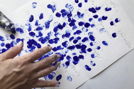Athena Ioannou, De la mémoire (The Blue works), 2018
