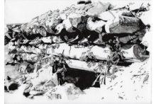 Eirene Efstathiou, Fortification 1, 2014,archival inkjet prints, cyanotype, photo etching, ink drawings, shelf, 21x15 cm