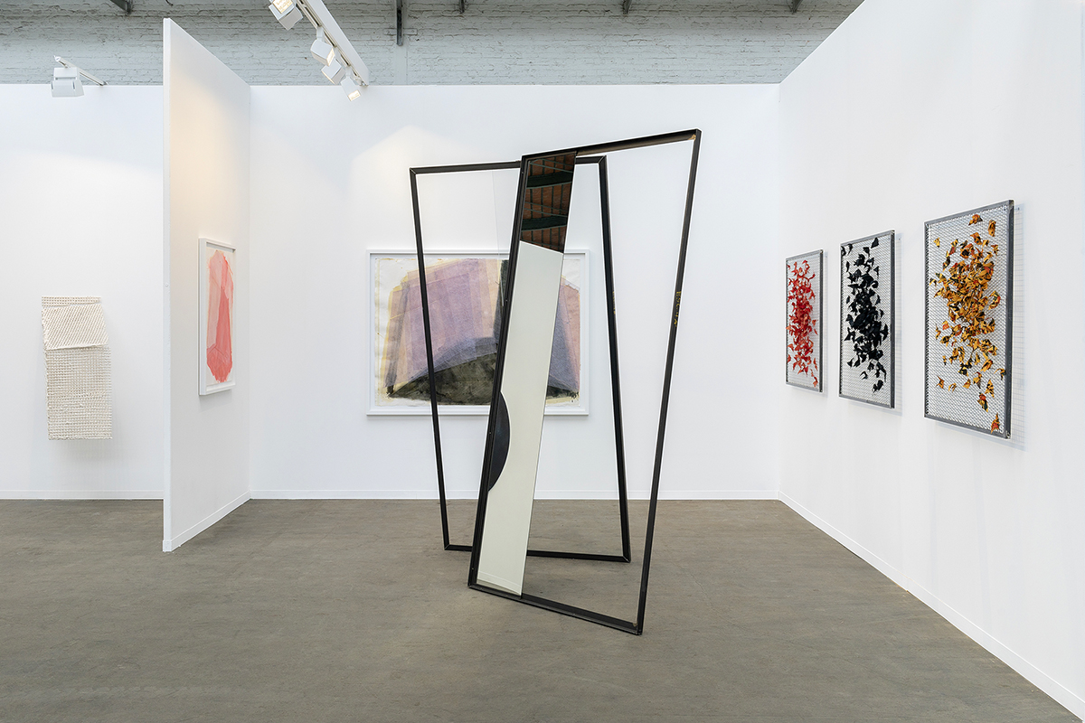 José Pedro Croft, Gauthier Hubert, Athina Ioannou and Roeland Tweelinckx, exhibition view of Art Brussels (BE), 2019