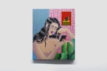 Joëlle Dubois, Lolly Pop, 2018, Acrylic on wooden panel, 60 x 50 cm