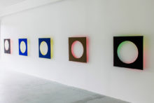 Bernard Villers, Light & color, 2011, tempera, acrylic, found wood, 92 x 92 x 10 cm each