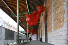 Tatiana Wolska, exhibition view of Art Brussels Monumental Sculpture Project, Tour & Taxis (BE), 2019