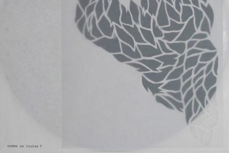 Gudny Rosa Ingimarsdottir, comme ça louise ?, 2017, vinyl record, plexiglass and mixed media on paper, 32 x 32 x 1,5 cm (detail)