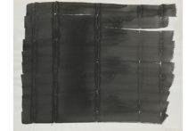 Bernard Villers, Plis de Chine 1, 1977, Indian Ink on paper, 50 x 65 cm