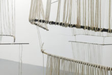 Esther Gatón, Bees Jàr Cantinha Fei, 2018, Iron, cotton, brass and hemp rope, Variable dimensions, Installation view at Irène Laub Gallery, Brussels (BE), 2019